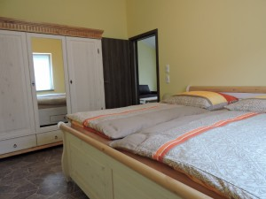 Unsere große FeWo, Zeltnerhof, das Schlafzimmer